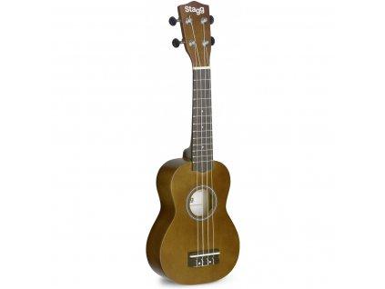 Stagg US NAT, sopránové ukulele s pouzdrem, přírodní