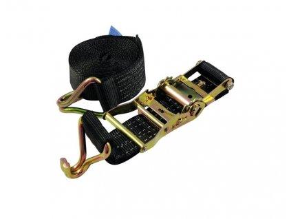Pás vázací H400, 2 dílný s háky, 4m, černý