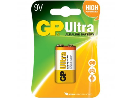 GP Ultra baterie 6LR61/MN1604, 9V