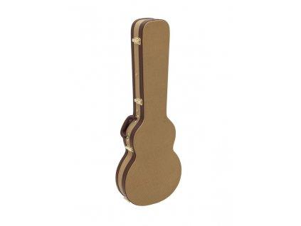 Dimavery tvarovaný kufr pro elektrickou kytaru LP, tweed