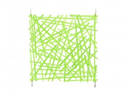 Paraván, vzor tyčinky, 29 x 29 cm, sada 4ks, zelená