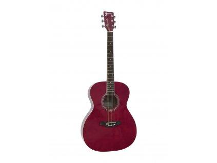 Dimavery AW-303, akustická kytara typu Folk, červená