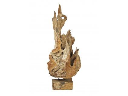 Dekorativní socha z přírodního dřeva, 160 cm