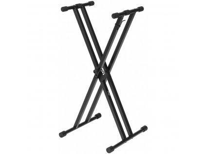 Stagg KXSQ5, dvojitý klávesový stojan, šroubovaný