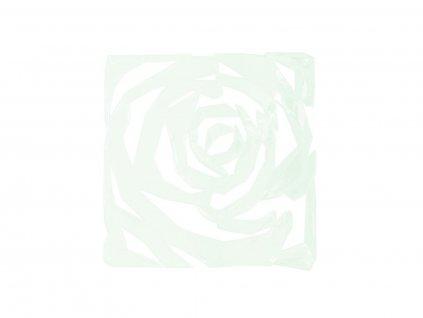 Paravan, vzor růže, čirá, 29 x 29 cm, 4x