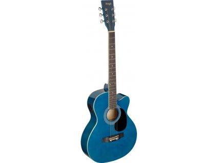 Stagg SA20ACE-BLUE, elektroakustická kytara typu Auditorium