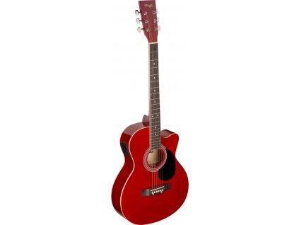 Stagg SA20ACE-RED, elektroakustická kytara typu Auditorium