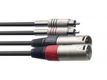 Stagg STC1,5CMXM Dvojitý kabel, 1.5m