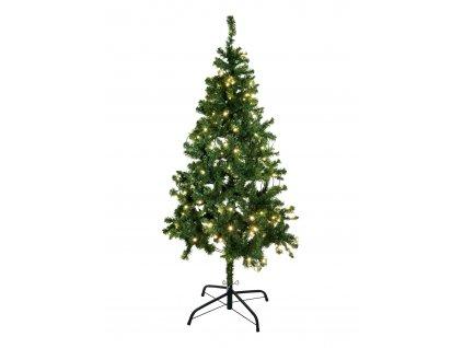 Umělý vánoční stromek s LED bílými žárovkami, 210 cm