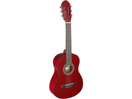 Stagg C405 M NAT, klasická kytara 1/4, červená