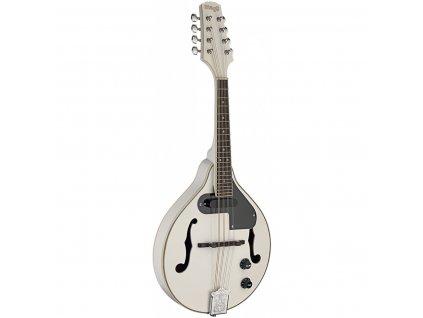 Stagg M50 E WH, elektroakustická bluegrassová mandolína, bílá