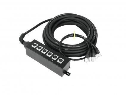 Omnitronic multicore kabel se stageboxem, 6IN XLR, 20 m