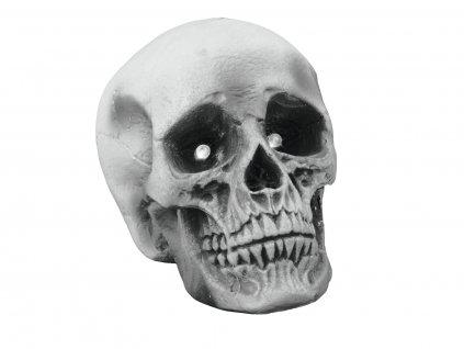 Halloween lebka, 21x15x15 s LED