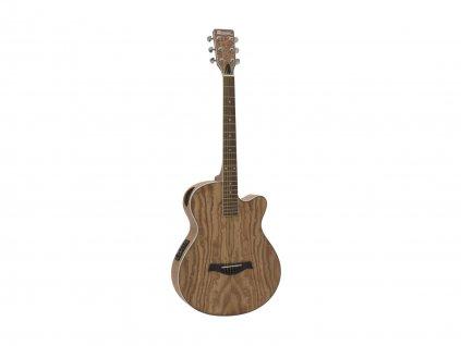 Dimavery SP-100, elektroakustická kytara typu Folk, přírodní