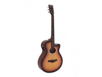 Dimavery AW-400, elektroakustická kytara typu Folk, sunburst