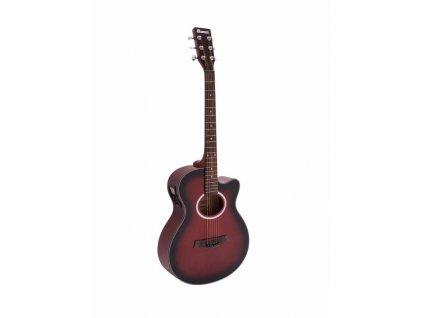 Dimavery AW-400, elektroakustická kytara typu Folk, redburst