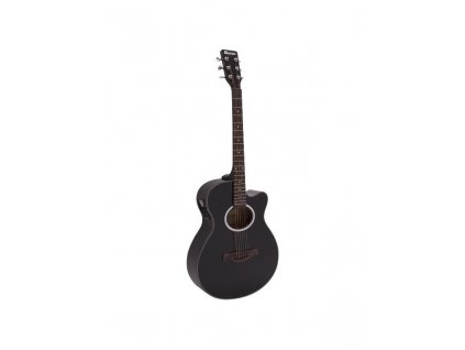 Dimavery AW-400, elektroakustická kytara typu Folk, černá