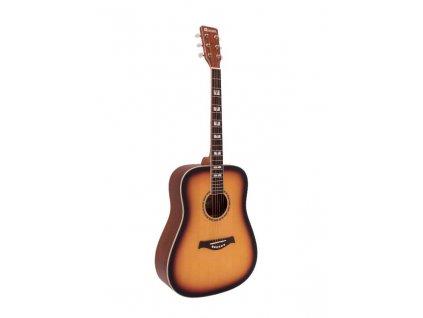 Dimavery STW-40, akustická kytara typu Dreadnought, sunburst