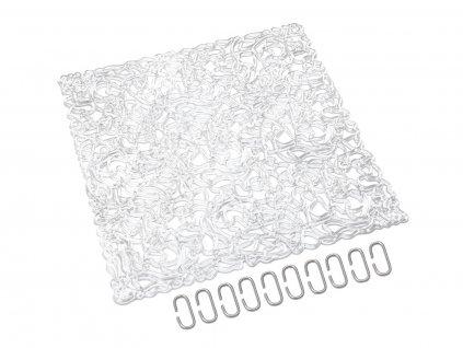 Paravan, vzor síť, čirá, 29 x 29 cm, 4x