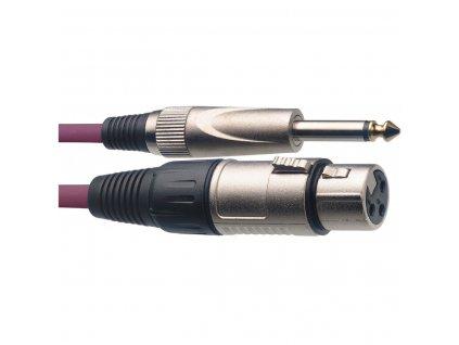 Stagg SMC6XP CPP, kabel mikrofonní XLR/Jack, 6m, fialový