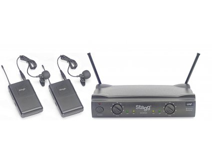 Stagg SUW 50 LL EG, UHF mikrofonní set 2 kanálový, 2x klopový mikrofon