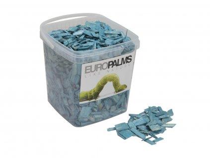 Dekorační dřevěné štěpky modré, balení 5,5 litru