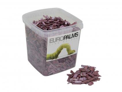 Dekorační dřevěné štěpky fialové, balení 5,5 litru
