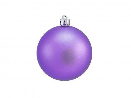 Vánoční dekorační ozdoby, 7 cm, purpurová matná, 6 ks
