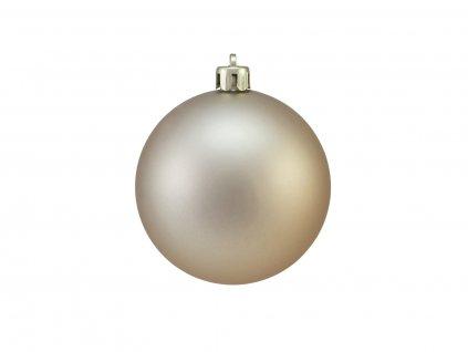 Vánoční dekorační ozdoby, 7 cm, měděná matná, 6 ks