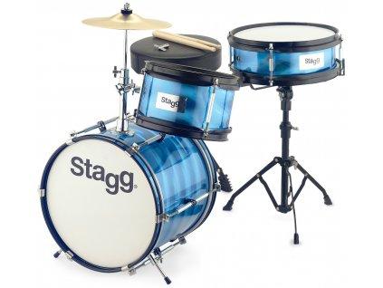 Stagg TIM JR 3/12B BL, dětská bicí sada, modrá
