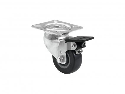 Roadinger otočné kolečko 50mm s brzdou, šedivé