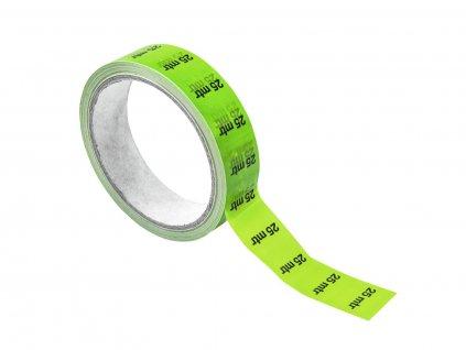 Páska značkovací na kabely 25m, 33m x 2,5cm, zelená