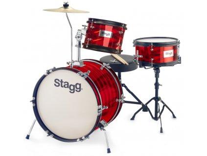 Stagg TIM JR 3/16B RD, dětská bicí sada, červená