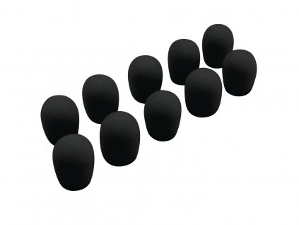 Omnitronic UHF-100 mikrofonní protivětrné kryty, černé, 10ks