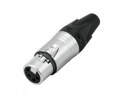 Neutrik NC4FXX, XLR zásuvka 4-pinová