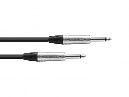 PSSO kabel Jack 6,3mm mono černý, 3m, konektory Neutrik