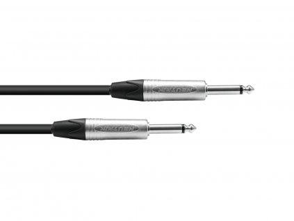 PSSO kabel Jack 6,3mm mono černý, 5m, konektory Neutrik