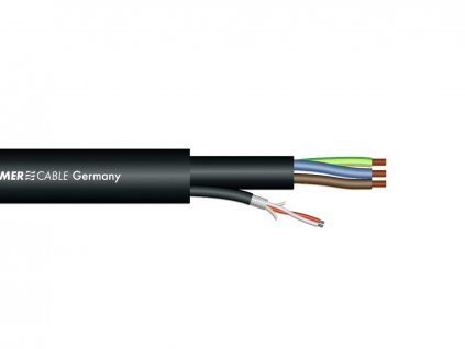 Sommer Cable SC-Monolith Power DMX, 1x2x0,25+3G1,5, 100m