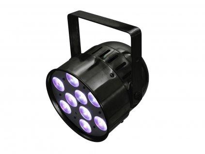 Eurolite LED PAR-56, 9x8W QCL, krátký černý