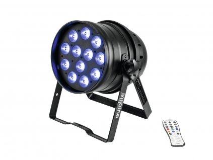 Eurolite LED PAR-64, 12x8W QCL,  černý