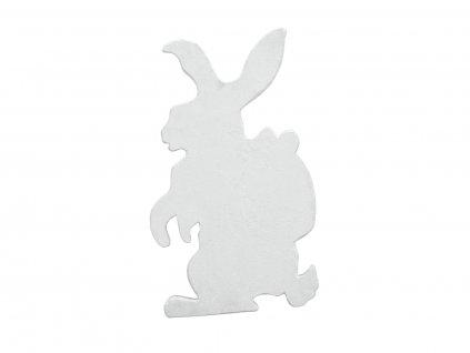 Silueta velikonočního králíka, bílá, 60cm