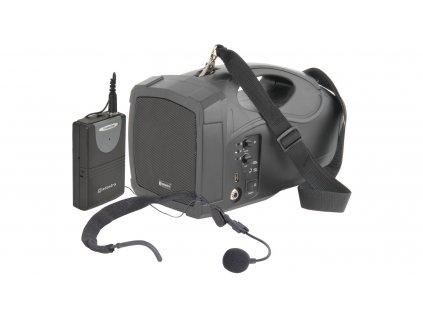 Adastra H25, přenosný řečnický systém MP3/VHF, 25W