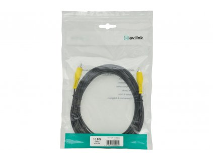 AV:link kabel 1x RCA samec - 1x RCA samec, 10m