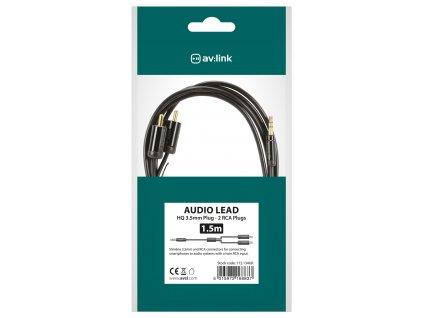 AV:link Precision kabel Jack 3.5mm stereo samec 2x RCA samec, 1.5m