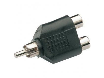 AV:link adaptér 2x RCA samice - 1x RCA samec