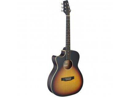 Stagg SA35 ACE-VS LH, elektroakustická kytara typu Auditorium, levoruká
