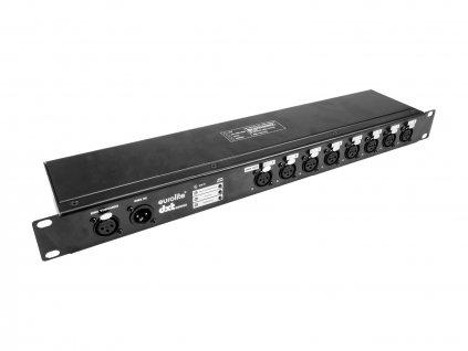 Eurolite DXT-SP PRO DMX RDM rozbočovač 1x IN/8x OUT, 3-pinové XLR