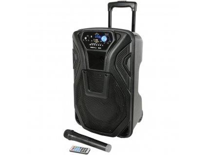 """QTX BUSKER-10, mobilní 10"""" zvukový systém MP3/FM/BT/VHF, 60W"""