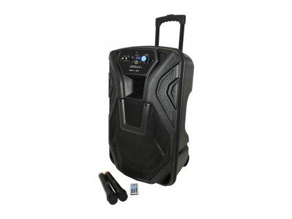 """QTX BUSKER-15, mobilní 15"""" zvukový systém MP3/FM/BT/VHF, 100W"""
