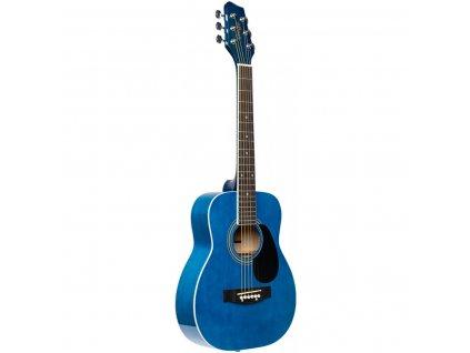 Stagg SA20D 1/2 BLUE, akustická kytara 1/2 typu Dreadnought